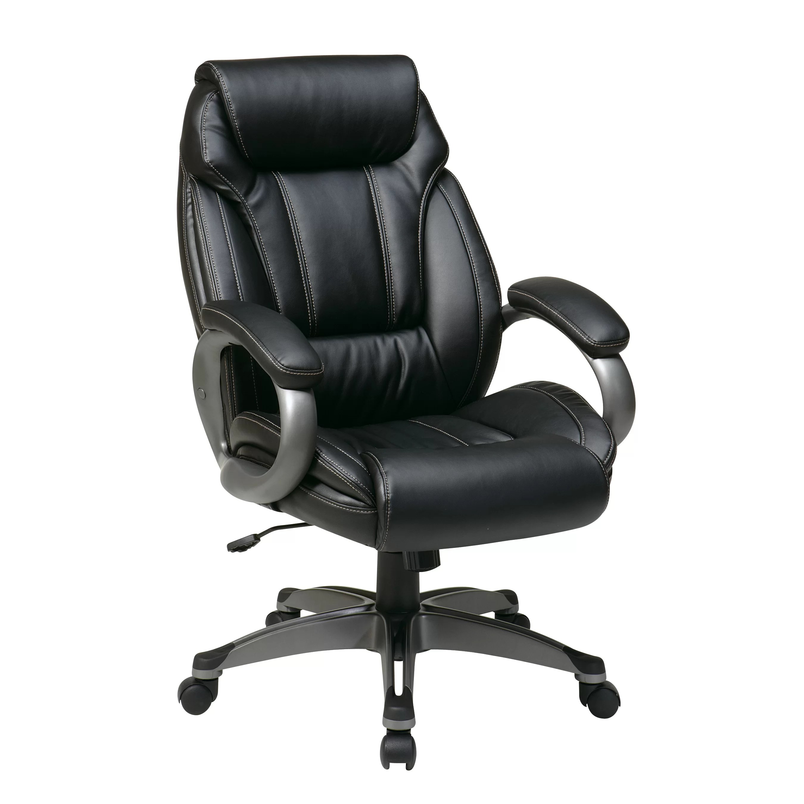 Work Chair Office Star Work Smart Leather Executive Chair And Reviews