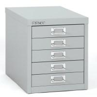 Bindertek 5-Drawer Steel Desktop Multidrawer Storage ...