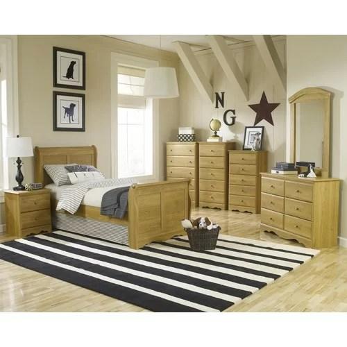 oak sleigh bedroom sets Lang Furniture Oak Creek Sleigh Customizable Bedroom Set