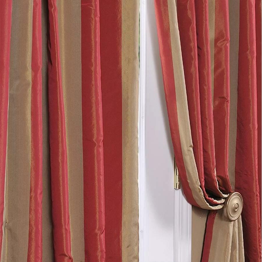 fall kitchen curtains cabinet on wheels half price drapes rialto faux silk taffeta stripe semi ...