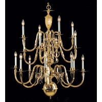 Classic Lighting Hampton 16 Light Candle-Style Chandelier ...
