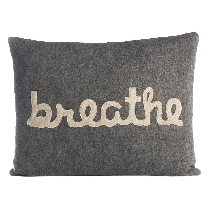 Alexandra Ferguson Zen Master Breathe Throw Pillow