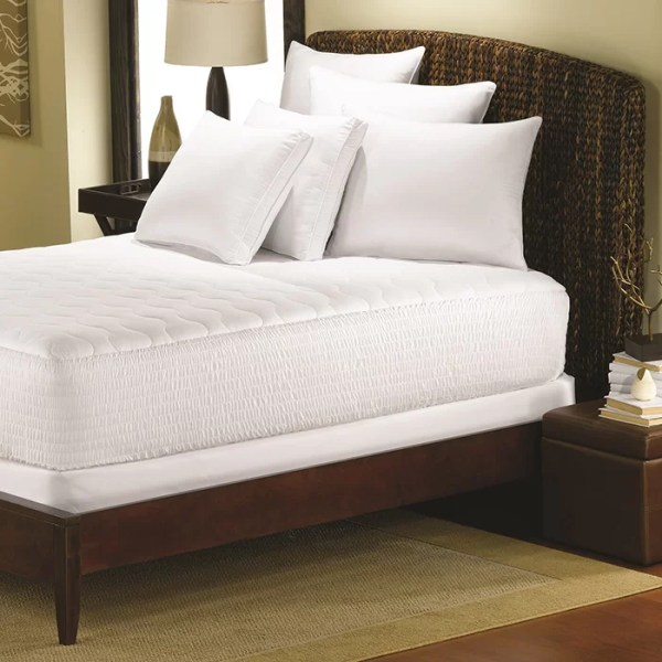 Simmons Beautyrest Cotton Top Mattress Pad with Premium