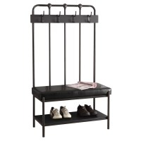 Monarch Specialties Inc. Metal Hall Tree with Bench ...