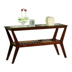 Sofa Table Design Plans Can I Use Steam To Clean Leather Hokku Designs Melva Console And Reviews Wayfair