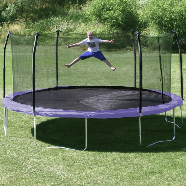 Skywalker 17' X 15' Oval Trampoline With Safety Enclosure &