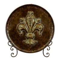 Woodland Imports Decorative Metal Plate with Stand ...