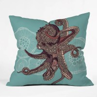DENY Designs Valentina Ramos Octopus Bloom Throw Pillow ...