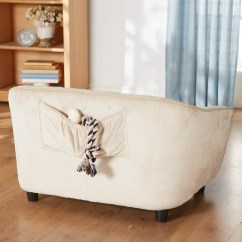 Large Plush Sectional Sofa Curved Semi Circle Enchanted Home Pet Ultra Astro Dog