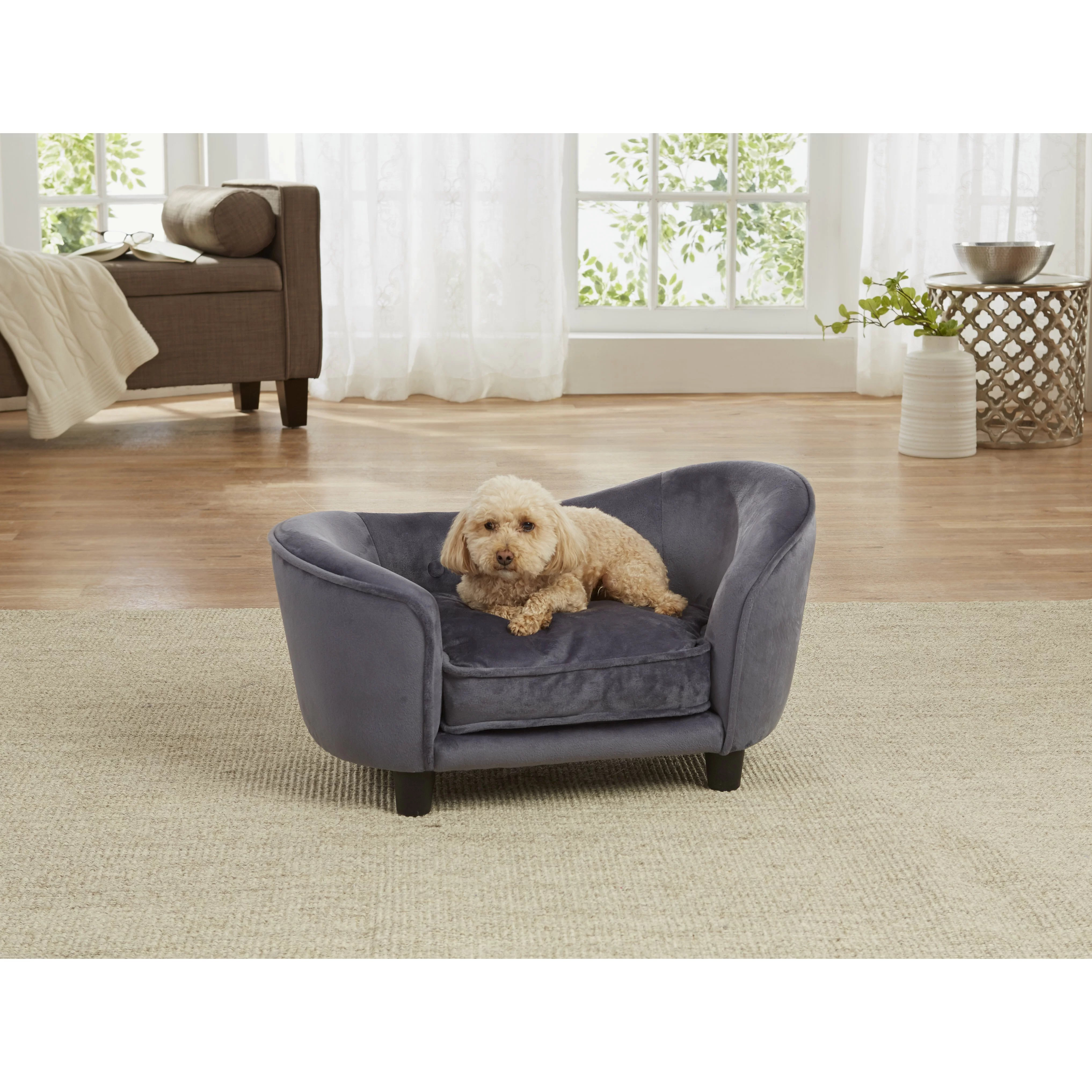 pet dog sofa large chair cover enchanted home ultra plush snuggle with