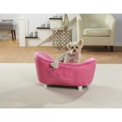 Enchanted Home Mackenzie Pet Sofa Brown Microfiber Bed Kimmi Ultra Plush Snuggle Dog With