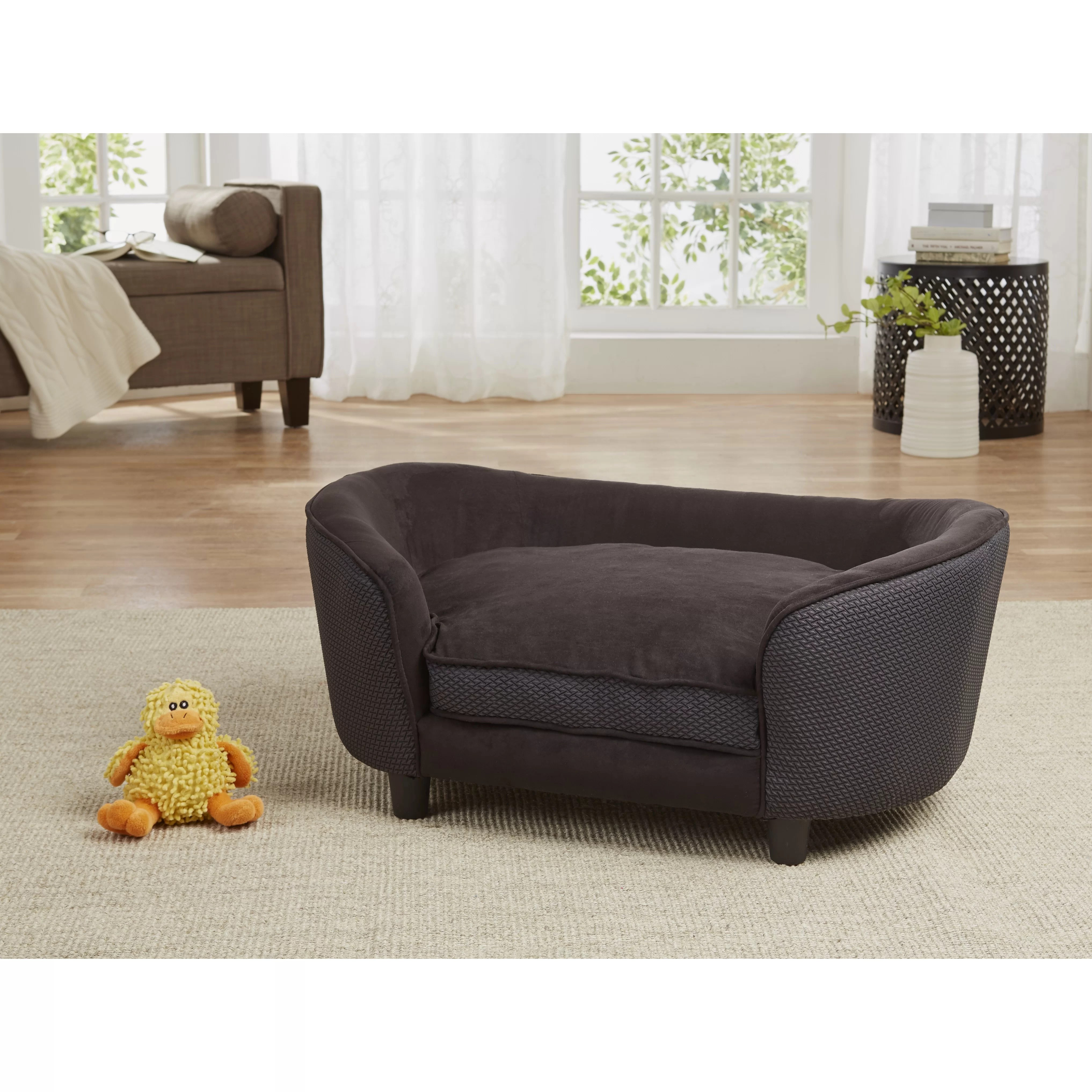 enchanted home mackenzie pet sofa living room designs with chocolate brown hudson dog cushion and reviews