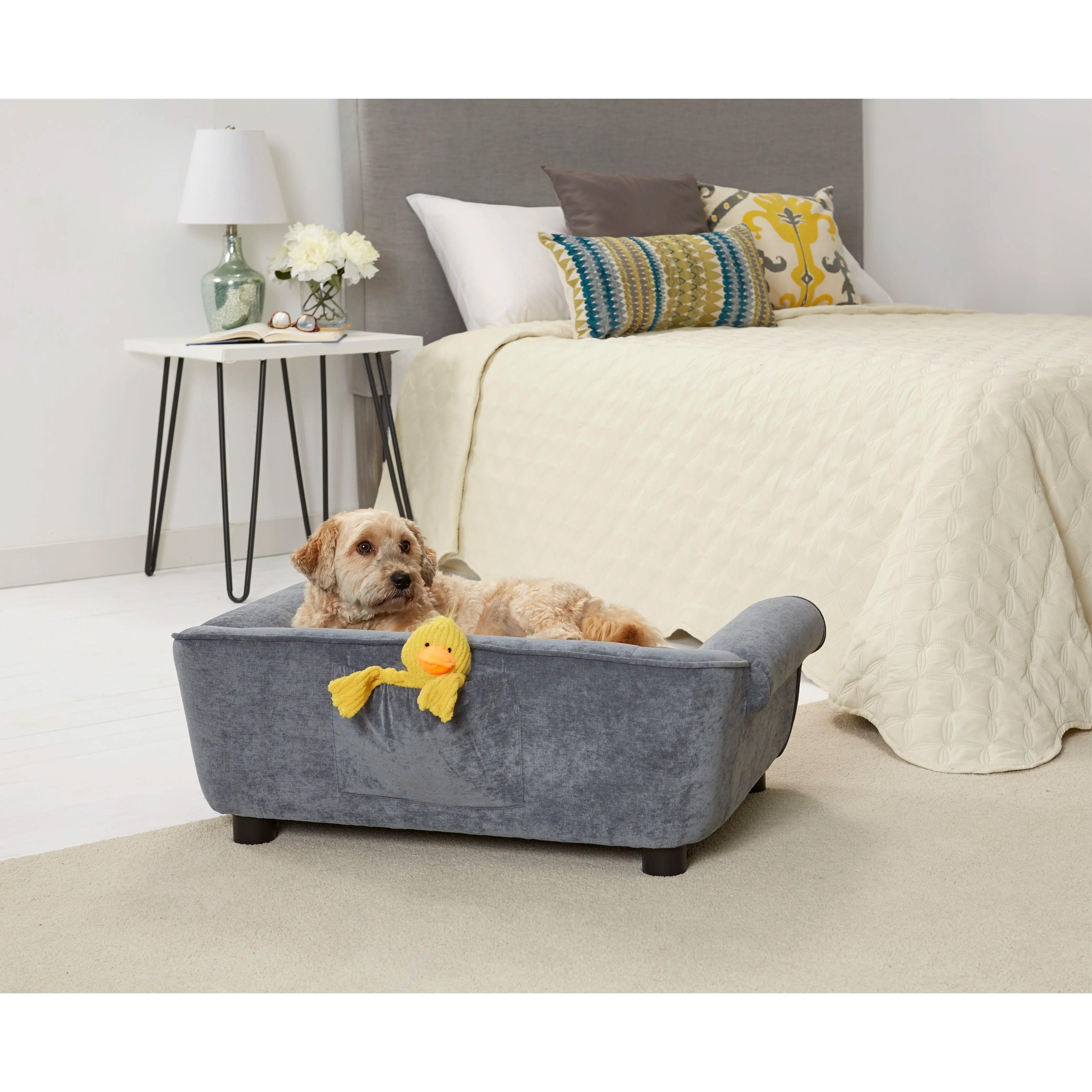 enchanted home mackenzie pet sofa madeline 3 piece leather set dreamcatcher velvet dog with