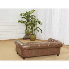 Enchanted Home Mackenzie Pet Sofa Recliner Single Wentworth Tufted Dog With Cushion
