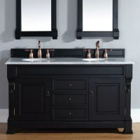 "James Martin Furniture Brookfield 60"" Double Antique Black"