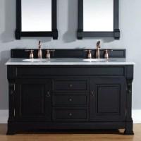 "James Martin Furniture Brookfield 60"" Double Antique Black"