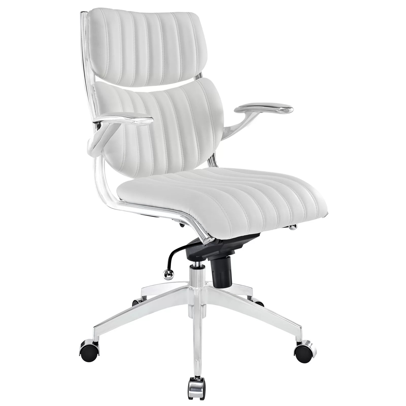 modway office chair armchair design escape mid back and reviews wayfair