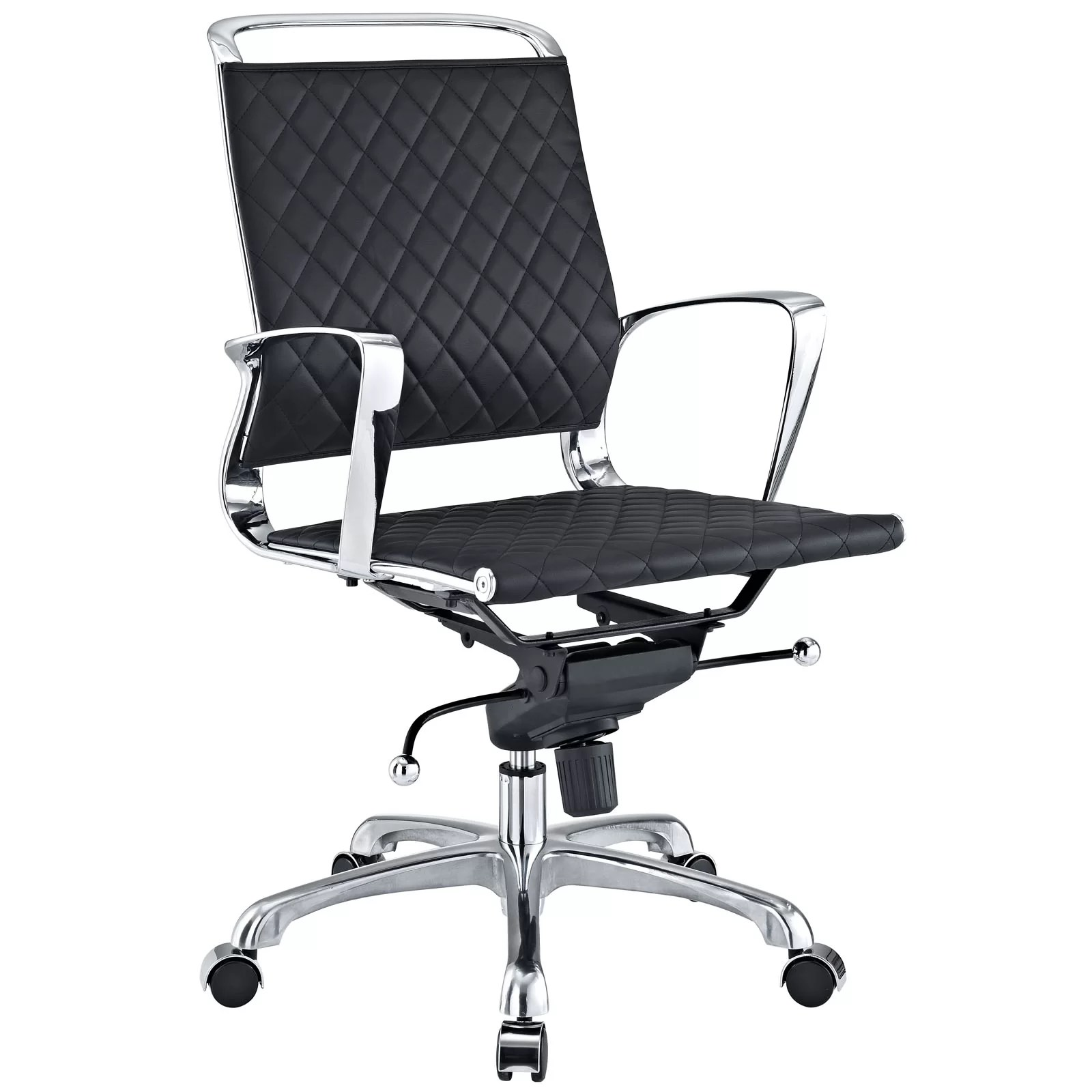 modway office chair ikea glass dining table and 4 chairs vibe mid back leather reviews wayfair