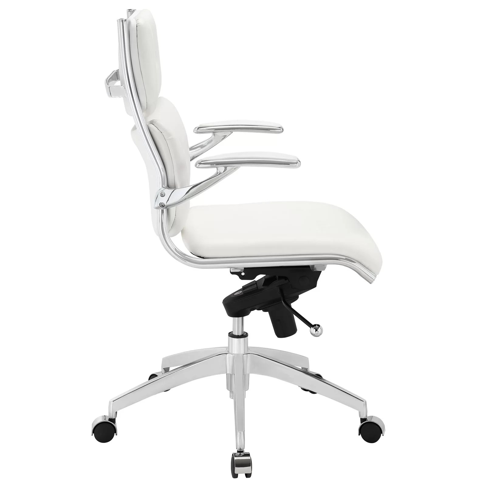 modway office chair c stand push mid back and reviews wayfair