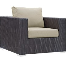 Modway Convene 9 Piece Outdoor Patio Sectional Set With