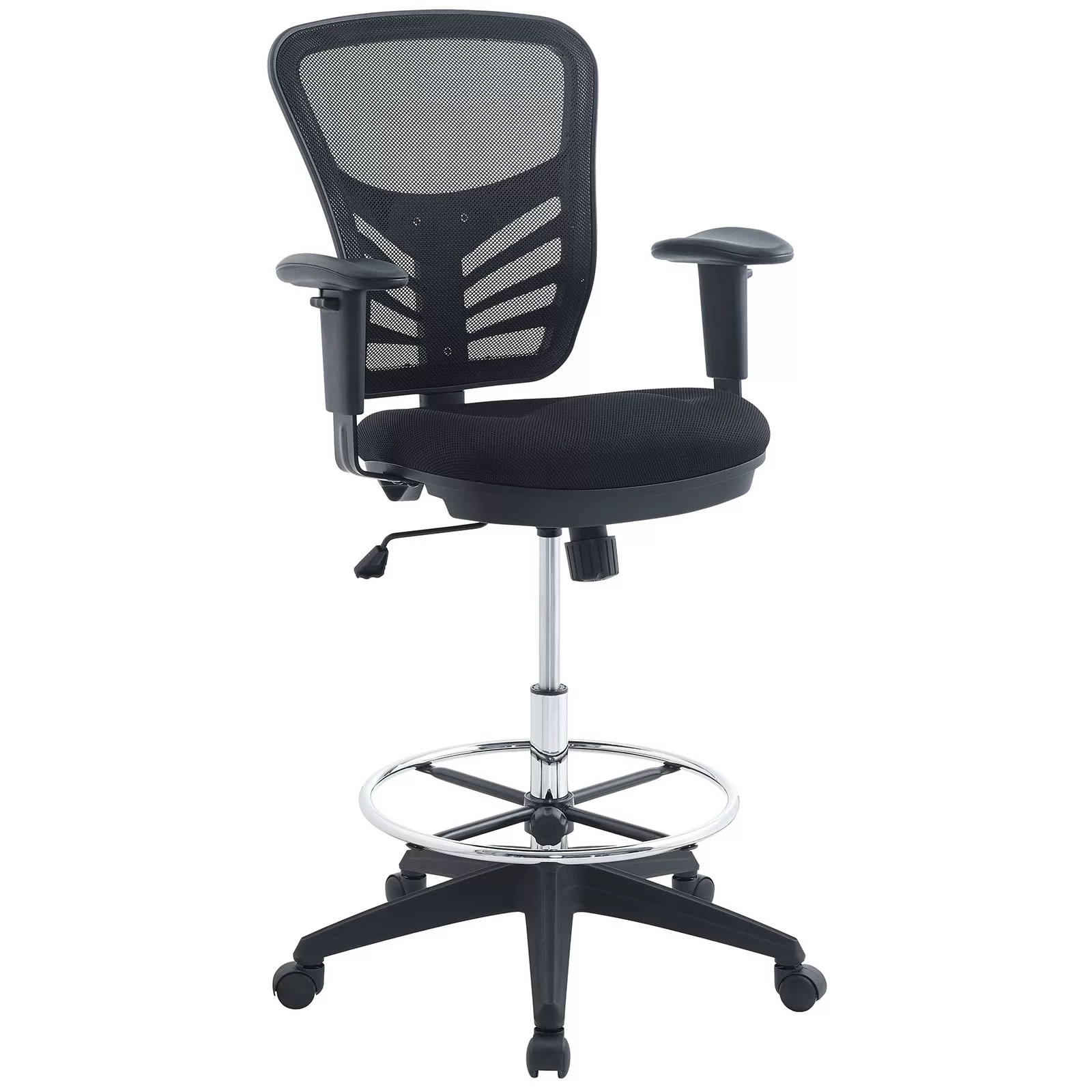drafting chairs office without wheels and arms modway articulate mesh chair wayfair