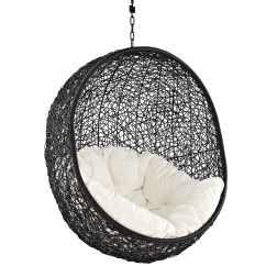 Hanging Chair Game Swing Design Modway Encase With Stand And Reviews Wayfair