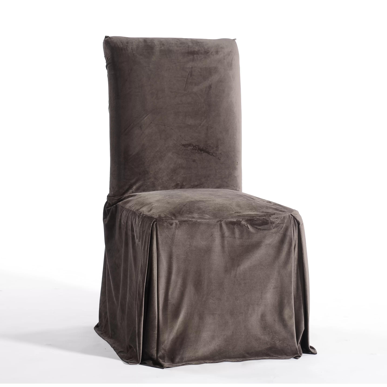 dining chair covers velvet graco doll swing high classic slipcovers royal skirted slipcover