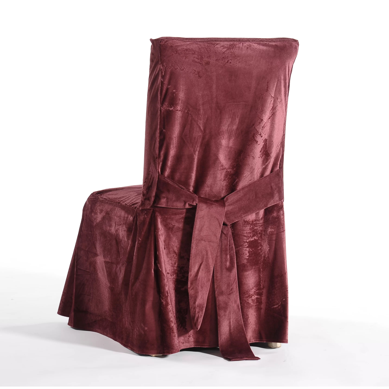 dining chair covers velvet most comfortable for reading classic slipcovers royal skirted slipcover
