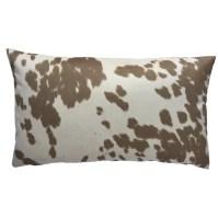 Chloe & Olive Cow Abunga Faux Cowhide Lumbar Pillow ...
