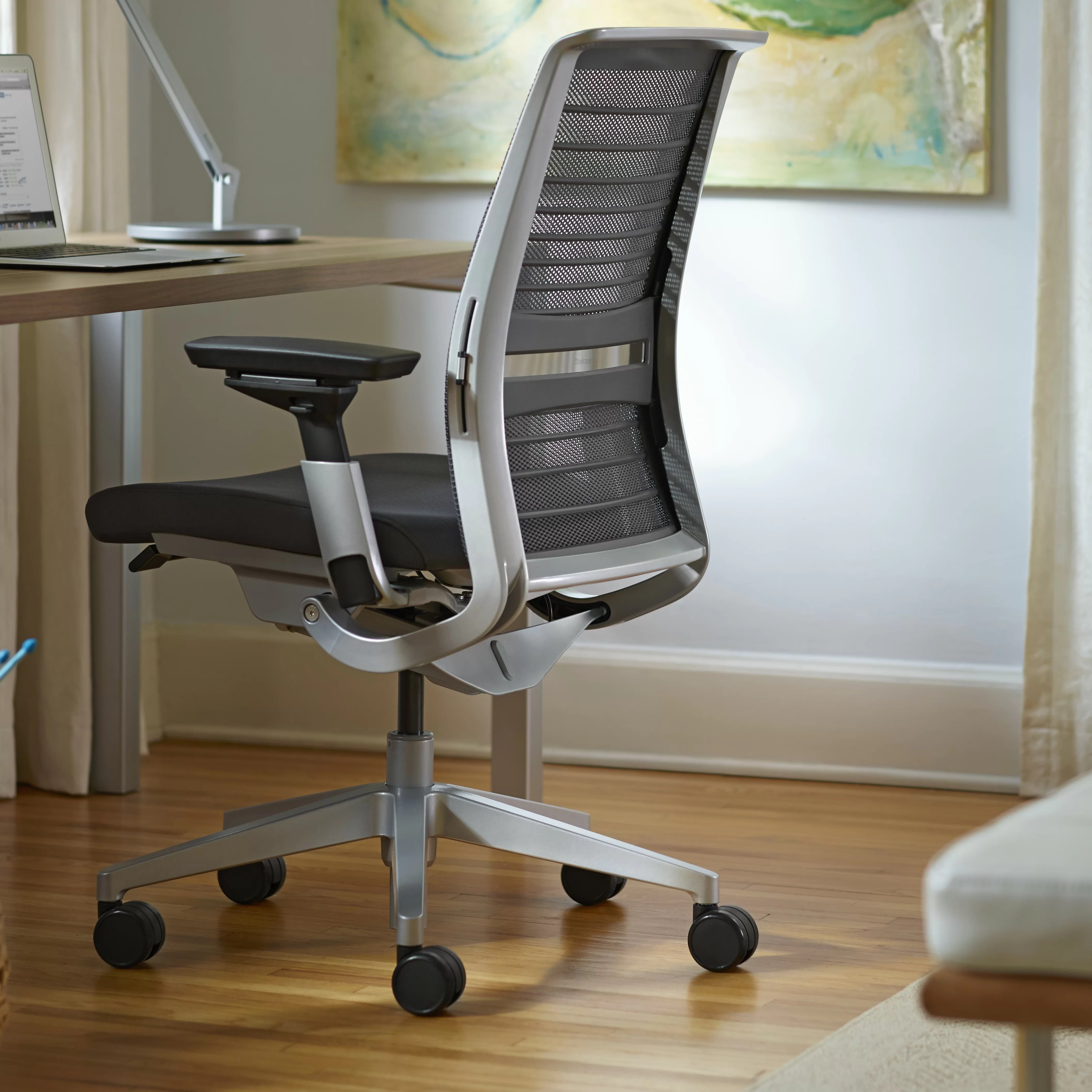 Steelcase Chair Steelcase Think 3d Knit Back Office Chair And Reviews Wayfair