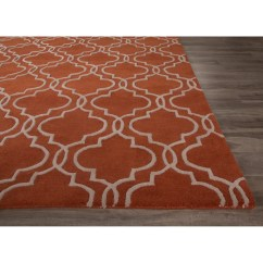 Chicken Kitchen Rugs Rustic Valances Jaipurliving Lounge Hand-tufted Orange/ivory Area Rug ...