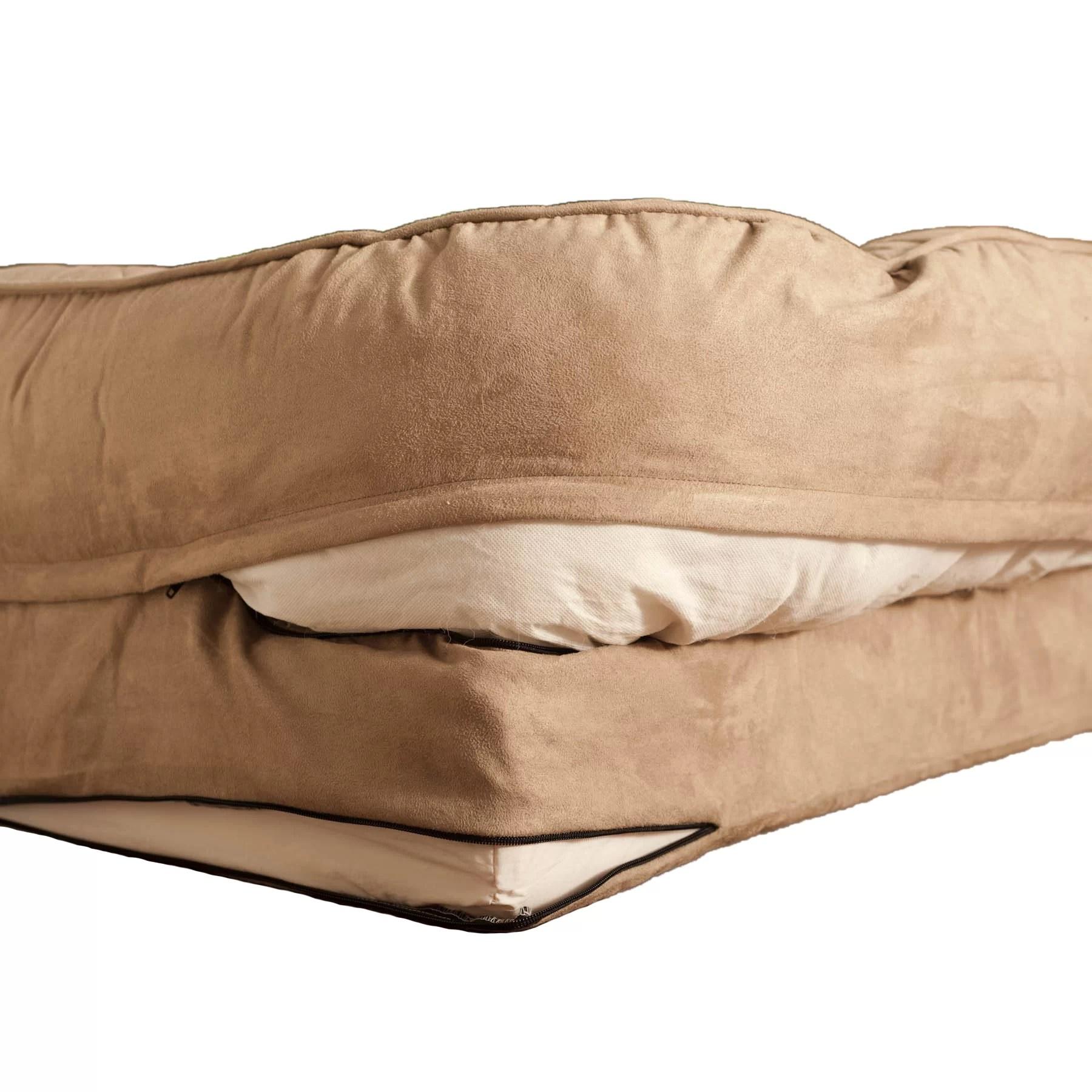 Buddy Beds Memory Foam Bolster Dog Bed