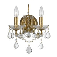 Crystorama Filmore 2 Light Crystal Wall Sconce & Reviews ...
