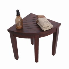 Corner Shower Chair Small Swivel Chairs Decoteak Oasis Teak Seat Stool Bench