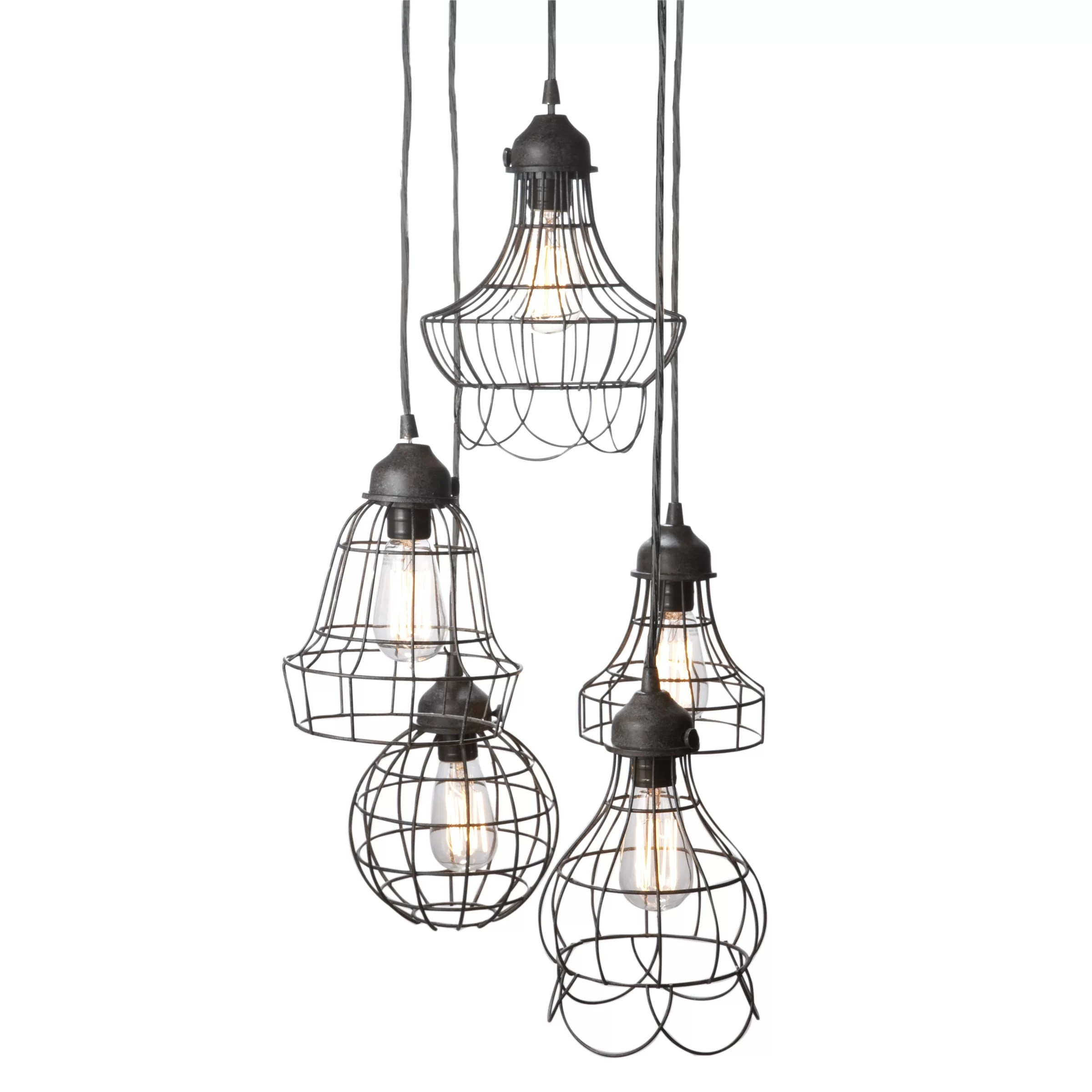 Lazy Susan Wire 5 Light Pendant In Bronze Amp Reviews