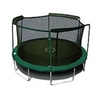 SKYBOUND 15' Enclosure Trampoline Net Using 3 Arches ...