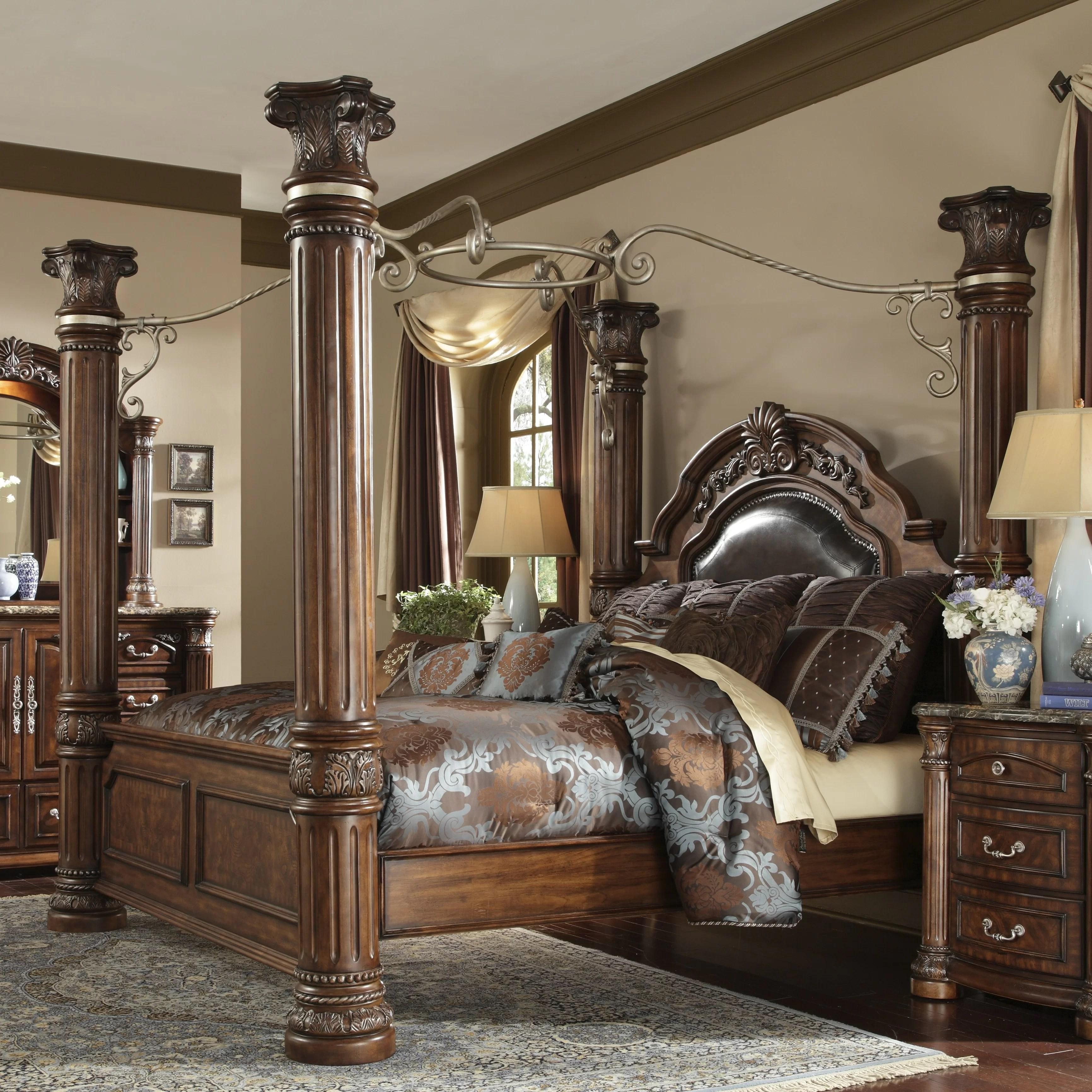 Michael Amini Monte Carlo II Upholstered Canopy Bed  Wayfair