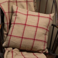 Ragon House Collection Tan Flannel Wool Throw Pillow ...