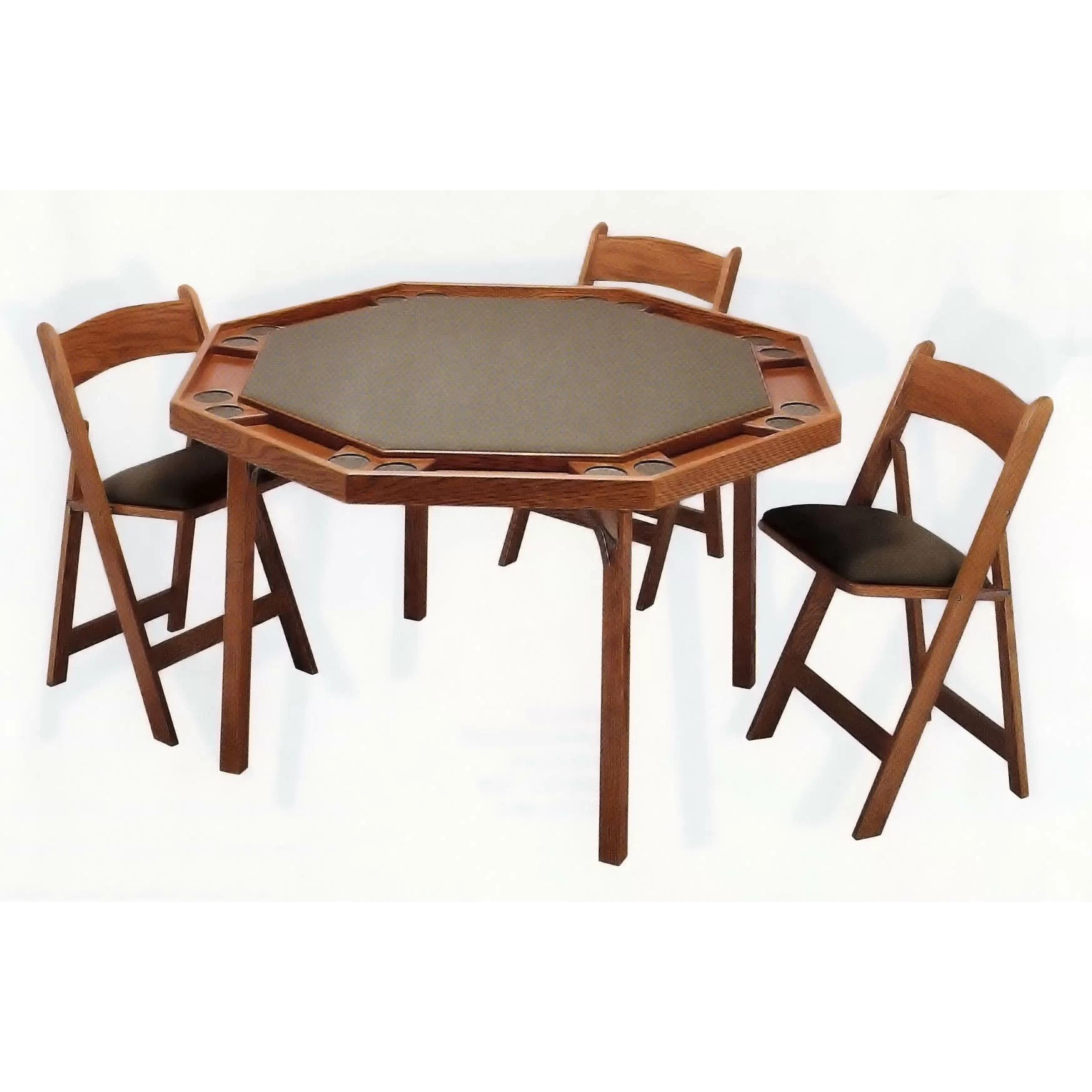 Poker Table And Chairs Kestell Furniture 57 Quot Maple Contemporary Folding Poker