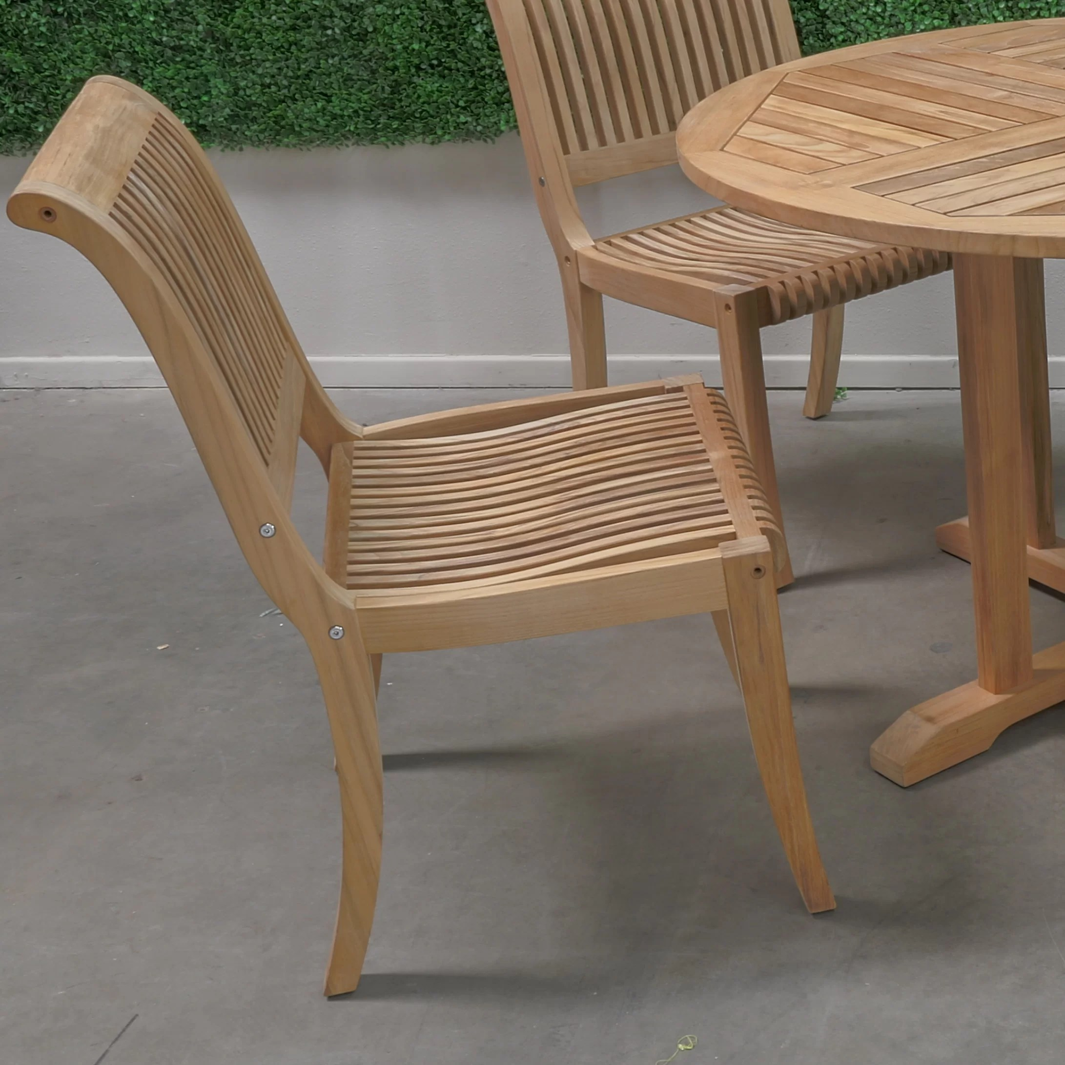 Stacking Dining Chairs Hiteak Furniture Stacking Dining Side Chair Wayfair