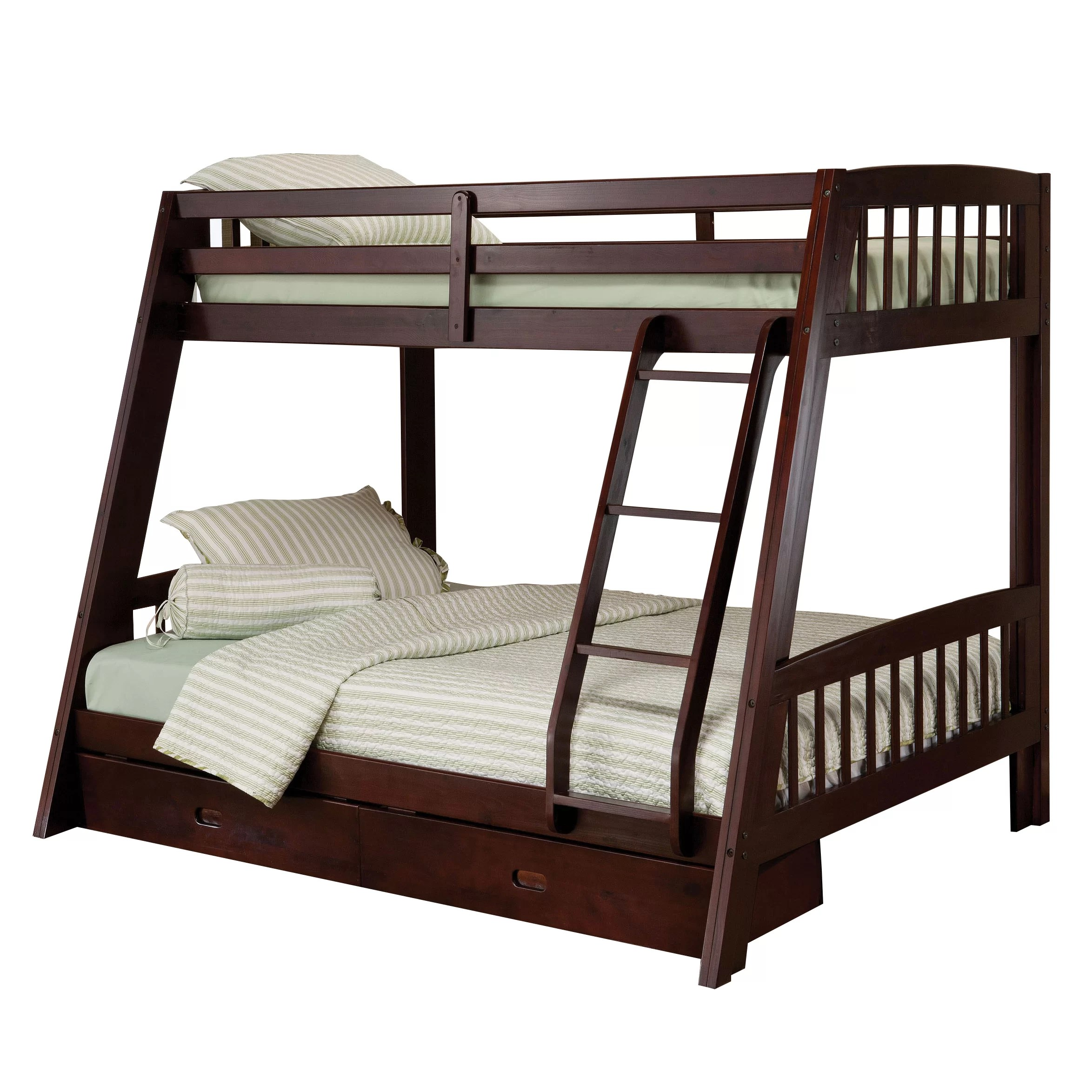 loft bed with chair futon cosco kitchen stool hillsdale rockdale twin over full bunk storage