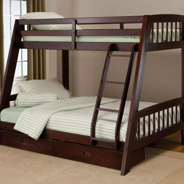 Hillsdale Rockdale Twin Over Full Bunk Bed With Storage &