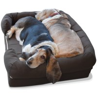 PetFusion Ultimate Bolster Dog Bed and Lounge with Solid ...
