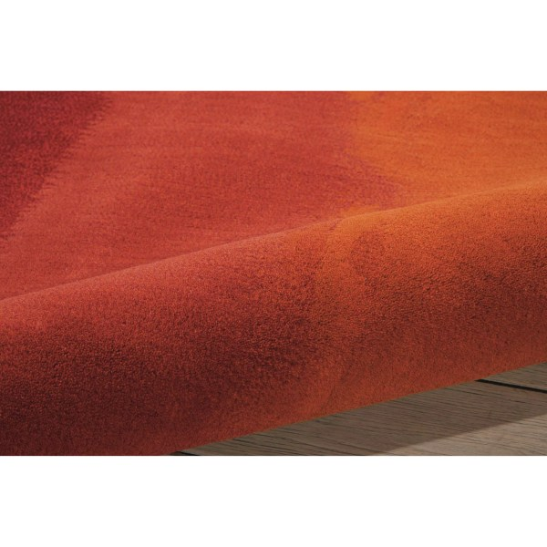 Calvin Klein Rugs Luster Wash Russet Tones Rust Area Rug