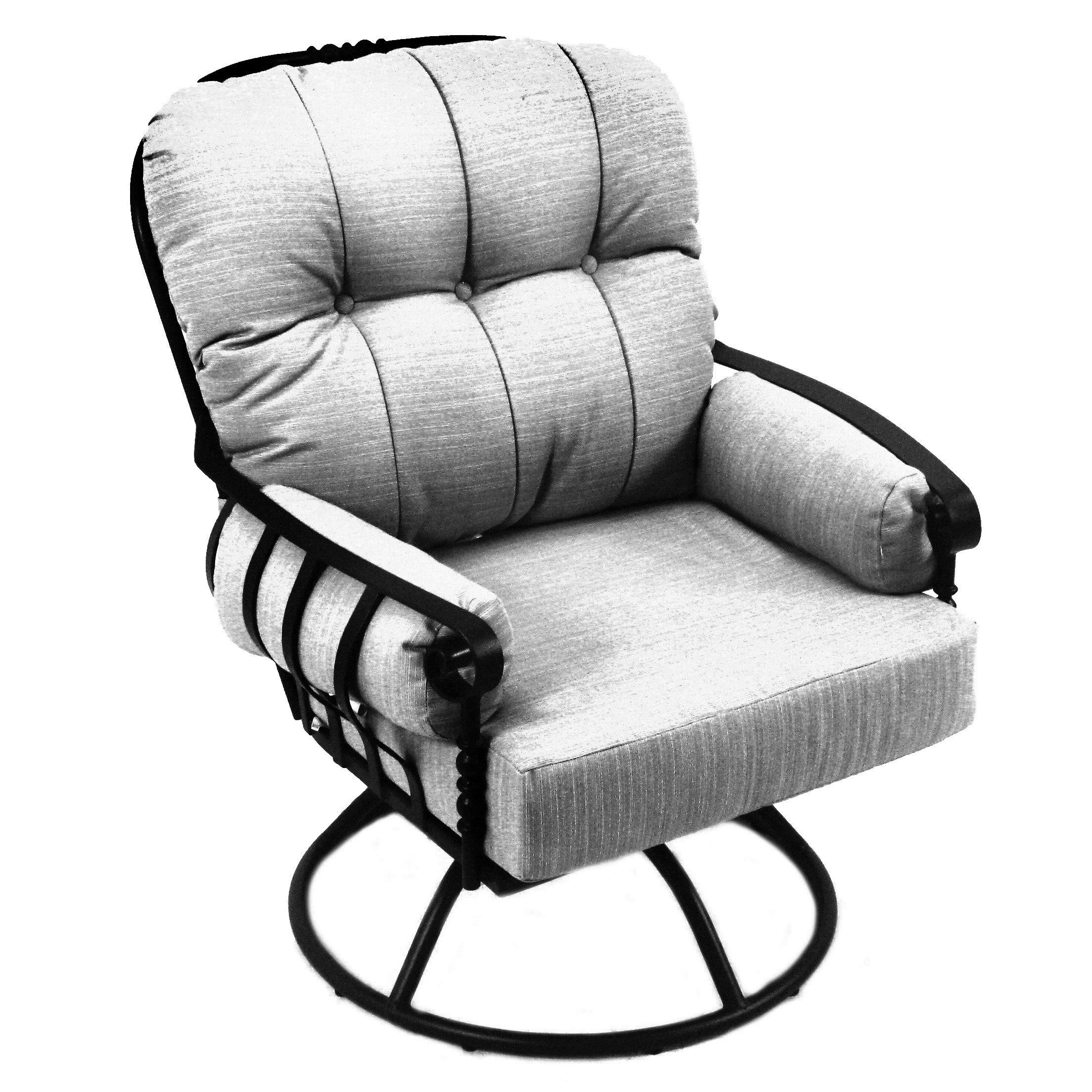 Meadowcraft Athens Swivel Rocking Chair With Cushions
