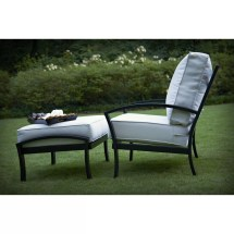 Meadowcraft Maddux Deep Seating Chair And Ottoman With