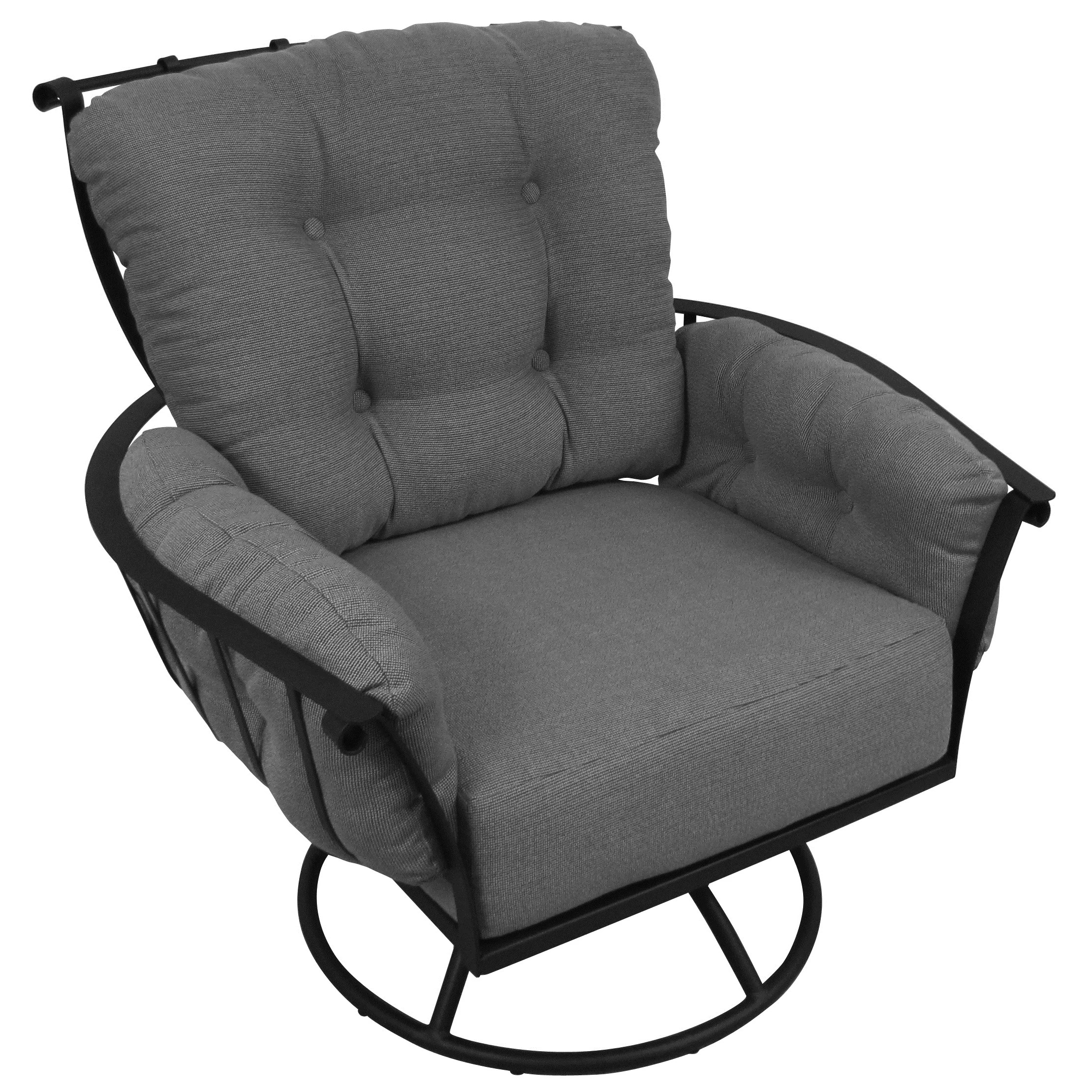 Rocking Swivel Chair Meadowcraft Swivel Rocking Chair With Cushions And Reviews