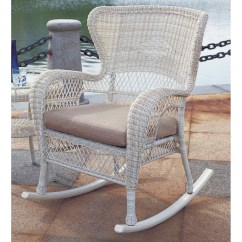 Rattan Wicker Rocking Chair Cushion Cheap White Covers South Sea Napa With Wayfair