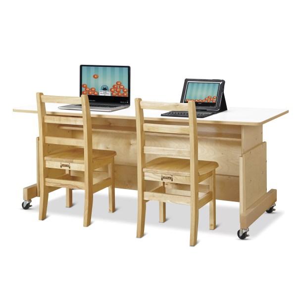 Jonti-craft Apollo Wood Adjustable Height Student Computer