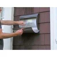 Spira Mailbox Wall Mounted Mailbox with Rain Overhang ...